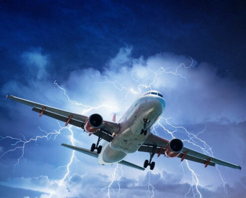 Are thunderstorms dangerous for passenger jets?
