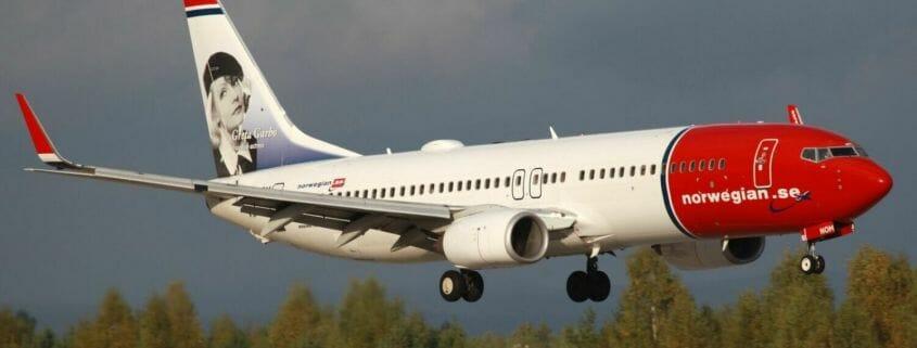 Norwegian 737 on approach