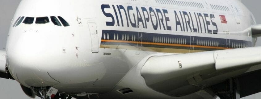 Singapore Airlines A380 on the ground