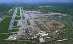 Aerial shot of Gatwick Airport