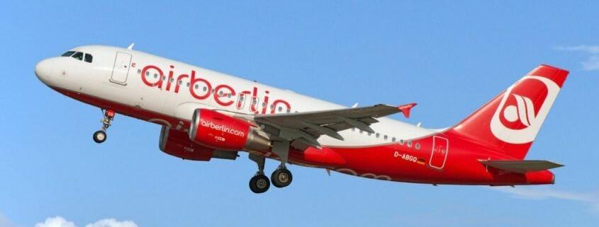 Air Berlin A320 Aircraft taking off