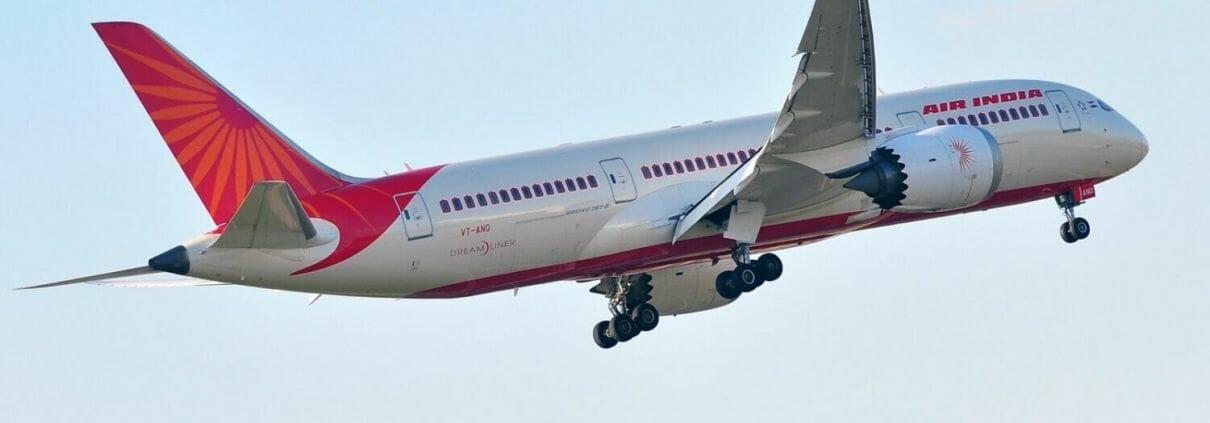 Air India aircraft taking off