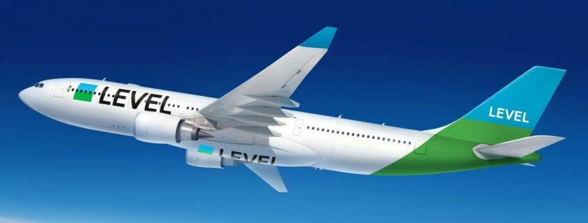 Level Airlines illustrated picture of aircraft