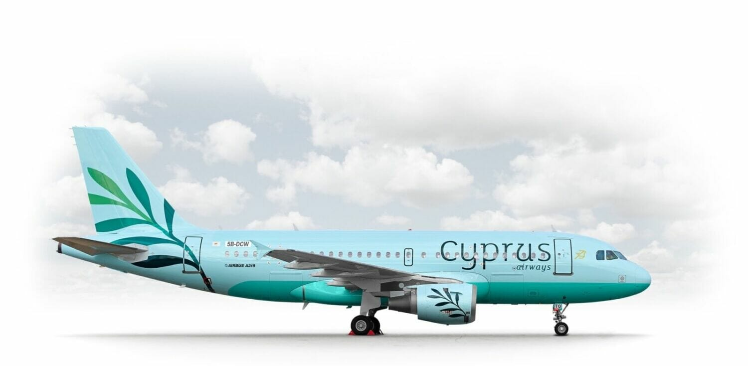 The new logo and aircraft from Cyprus Airways website