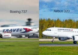 Difference in the nose design of the A320 and B737