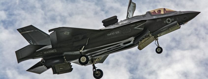 An F35 reversing in flight
